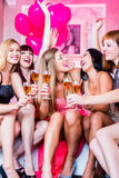 Girls partying in night club Royalty Free Stock Image