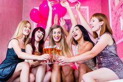 Girls partying in night club Royalty Free Stock Photo