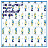 Girls pattern Stock Photos