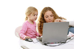 Girls and PC Stock Images