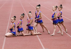 Girls perform on the opening ceremony Stock Image