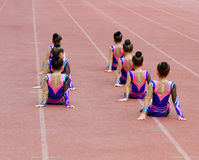 Girls perform on the opening ceremony Royalty Free Stock Photo