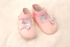 Girls pink baby shoes Royalty Free Stock Photography