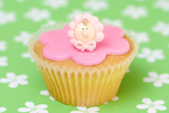 Girls Pink Cake Stock Images