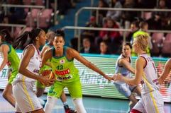 Girls play basketball Royalty Free Stock Photography