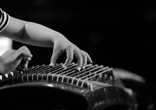 Girls play the Guzheng Stock Photo