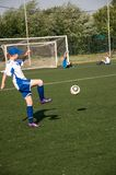 The girls play soccer Royalty Free Stock Image