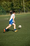 The girls play soccer Royalty Free Stock Images