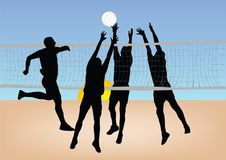 Girls play volleyball Stock Photography