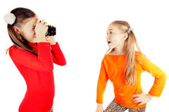Girls played and photographed Royalty Free Stock Photos