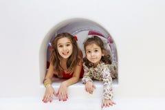 Girls in the playground Stock Image
