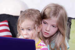 Girls playing Royalty Free Stock Photography