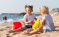Girls playing on  beach Stock Photo