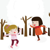 The girls are playing icon great for any use. Vector EPS10. Great Stock Images