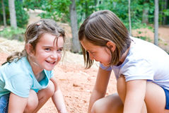 Girls Playing/Outside Stock Image