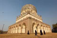 Girls playing at Qutb Shahi Tombs Royalty Free Stock Photography