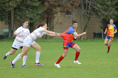 Girls playing rugby Royalty Free Stock Photography