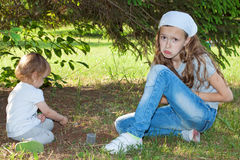 Girls playing together Stock Image