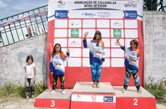 Girls podium Royalty Free Stock Photos