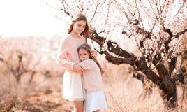 Girls posing outdoors Royalty Free Stock Image