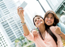 Girls posing for a photo Stock Images