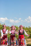 Girls posing during the Rose picking festival in Bulgaria Stock Image