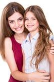 Girls posing to camera Royalty Free Stock Photography