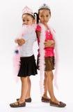 Girls in princess costumes Stock Image