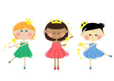 Girls Princesses Royalty Free Stock Photos