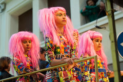 Girls at procession of burial Carnestoltes  - Stock Photos