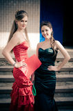 Girls at the prom Royalty Free Stock Photos