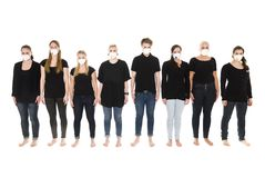 Girls with Protective Masks Royalty Free Stock Photo