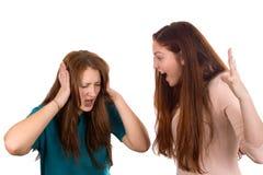 Girls quarrel Stock Images