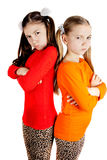 Girls quarreled and insulted Royalty Free Stock Photo
