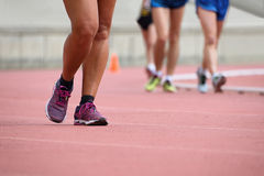 Girls on race walking Stock Photo
