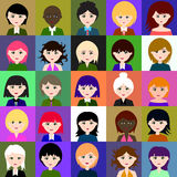 25 girls Raster 1 1 1 Royalty Free Stock Photos