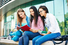Girls reading Stock Photography