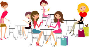 Girls relaxing Royalty Free Stock Photo