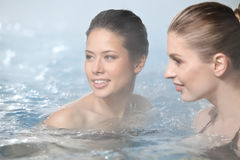 Girls Relaxing In Beauty And Wellness Spa Stock Image