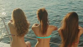 Girls at the resort. stock video
