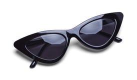 Girls Retro Black Sunglasses royalty free stock image