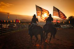 Fair Colors on Horseback royalty free stock images