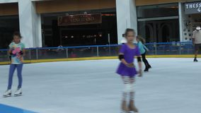 Girls at the rink Royalty Free Stock Image