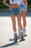 Girls on roller skates Royalty Free Stock Photos