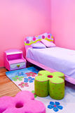 Girls room. Interior of girls room all in pink Stock Photo