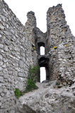 Girls ruins of Castle, Czech Republic, Europe Stock Image