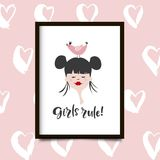 Girls rule poster Royalty Free Stock Photos