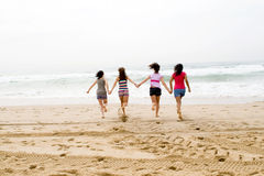 Girls running Stock Photos