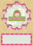 Girls Say Thank You Card_eps Royalty Free Stock Photography