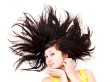 Girls scatter hair Stock Photo